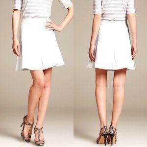BANANA REPUBLIC White Cotton A-Line Skirt
